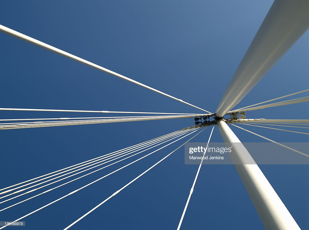 Bridge aagainst blue sky : Stock Photo
