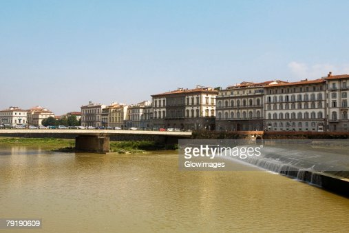 Bridge across a river, Arno River, Florence, Tuscany, Italy : Stock Photo