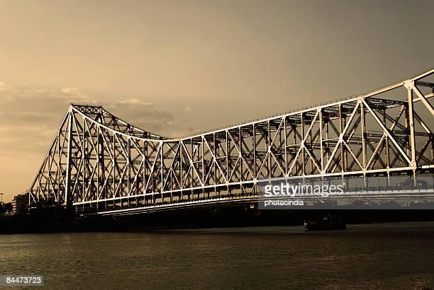 Bridge across a river, Howrah Bridge, Hooghly River, Calcutta, West Bengal, India