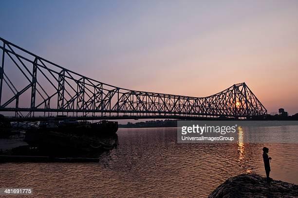 Bridge across a River Howrah Bridge Hooghly River Kolkata West Bengal India