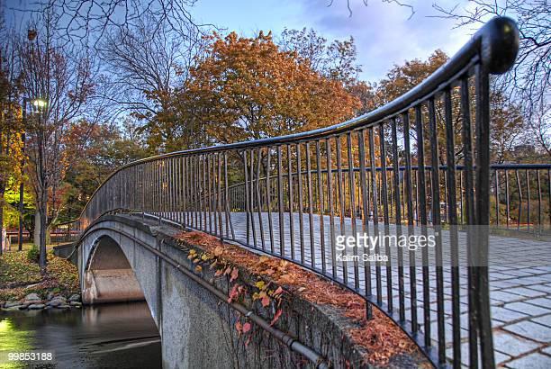 Bridge across Charles River in Boston during Fall
