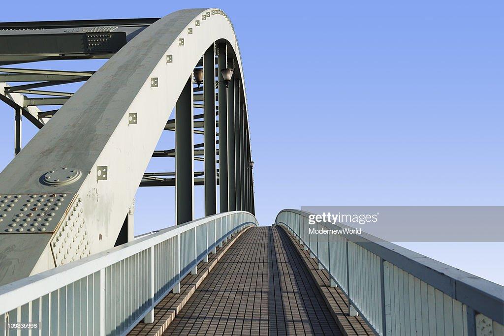 Bridge and blue sky : Stock Photo