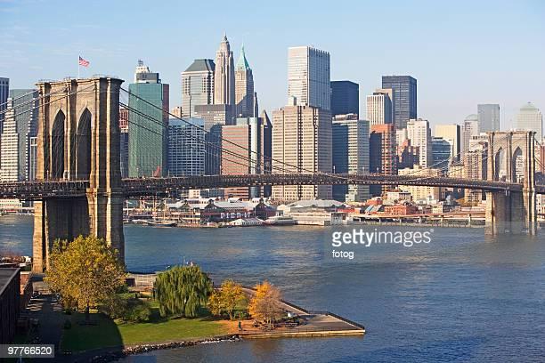 Bridge and cityscape