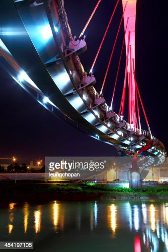 Ponte à noite em Taiwan : Foto de stock