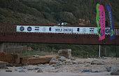 Bridge at Ribeira D'Ilhas during heat 1 of Quarterfinals of the Men's Ericeira World Junior Championships 2016 of Surfing at Praia de Ribeira D'Ilhas...
