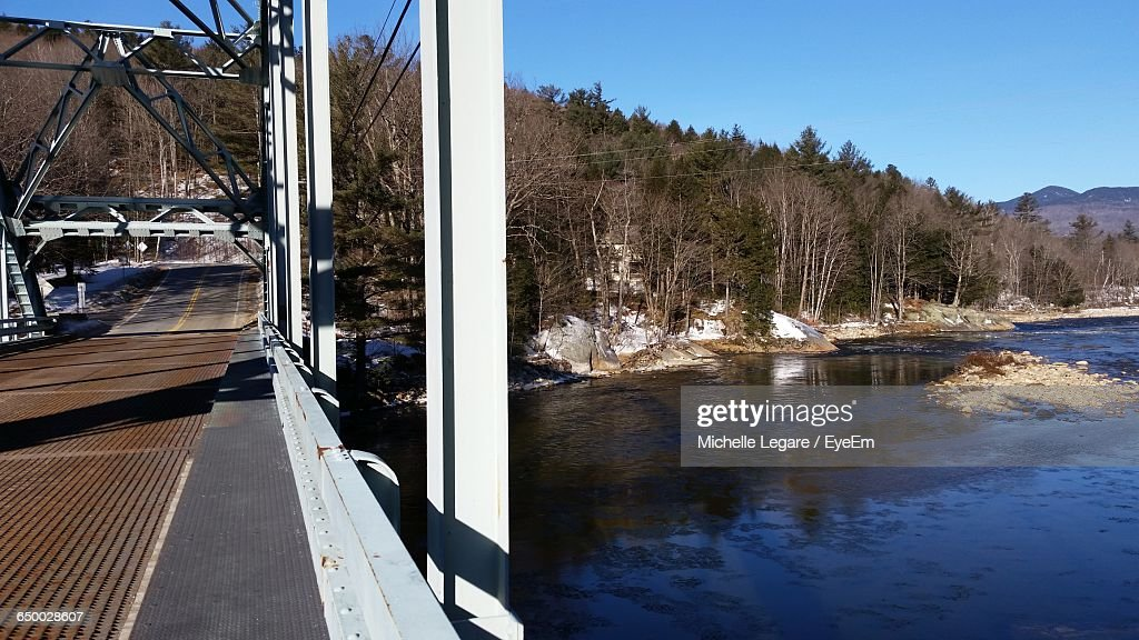Bridge By Pemigewasset River At White Mountain National Forest