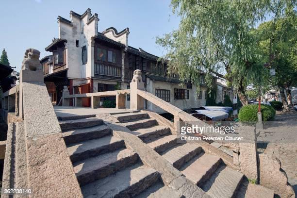 Bridge, canal and houses Zhouzhuang Water town near Suzhou