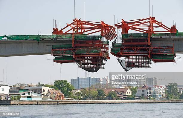 Bridge construction over a river Bangkok Thailand