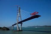 Bridge construction site