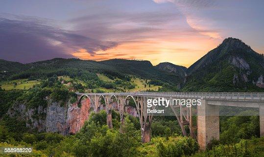 Bridge Dzhurdzhevicha. Montenegro : Stock Photo