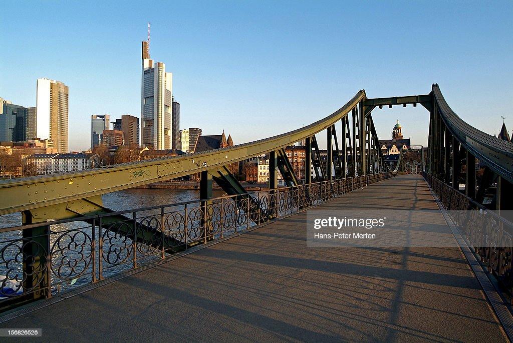 bridge Eiserner Steg, Frankfurt, Main, Germany