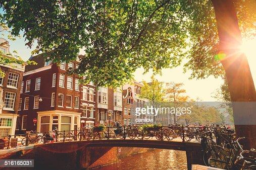 ブリッジにアムステルダム,オランダ