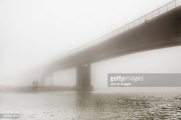 Bridge in fog, Gothenburg, Sweden