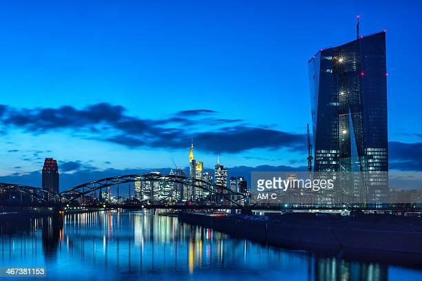 EZB, den EZB, die Europäische Zentralbank in Frankfurt.