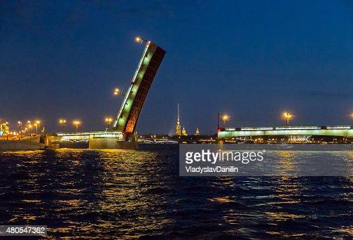 Bridge in the city of St. Petersburg, Russia : Stock Photo