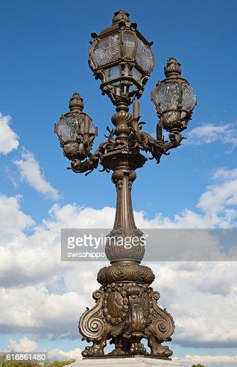 Bridge of Alexandre III in Paris : Stock Photo