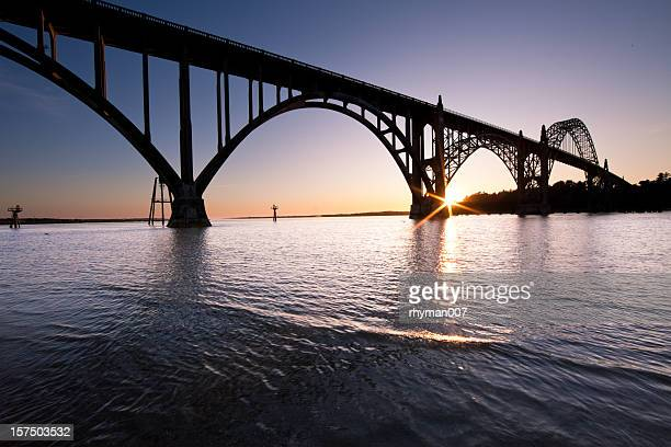 Bridge of Yaquina Bay in Newport Oregon