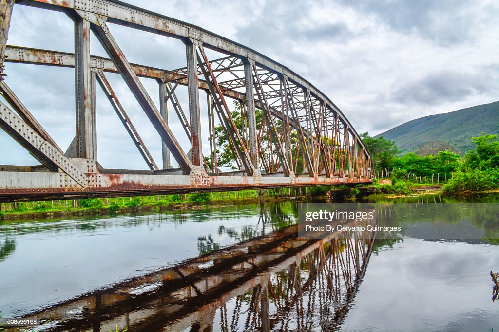 Bridge on the river. : Stock Photo