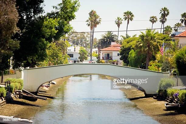 Bridge over a canal, Venice, Los Angeles, California, USA
