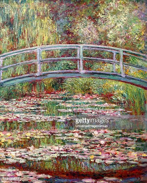 Bridge Over a Pond of Water Lilies Claude Monet 1899