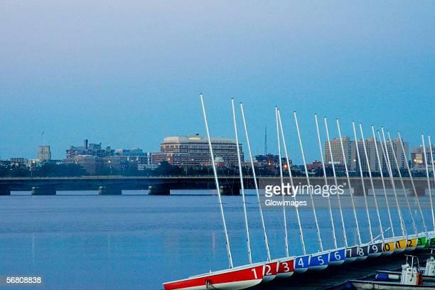 Bridge over a river, Harvard Bridge, Charles River, Boston, Massachusetts, USA
