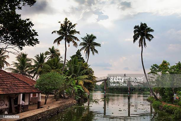 bridge over a river in the Kerala backwaters