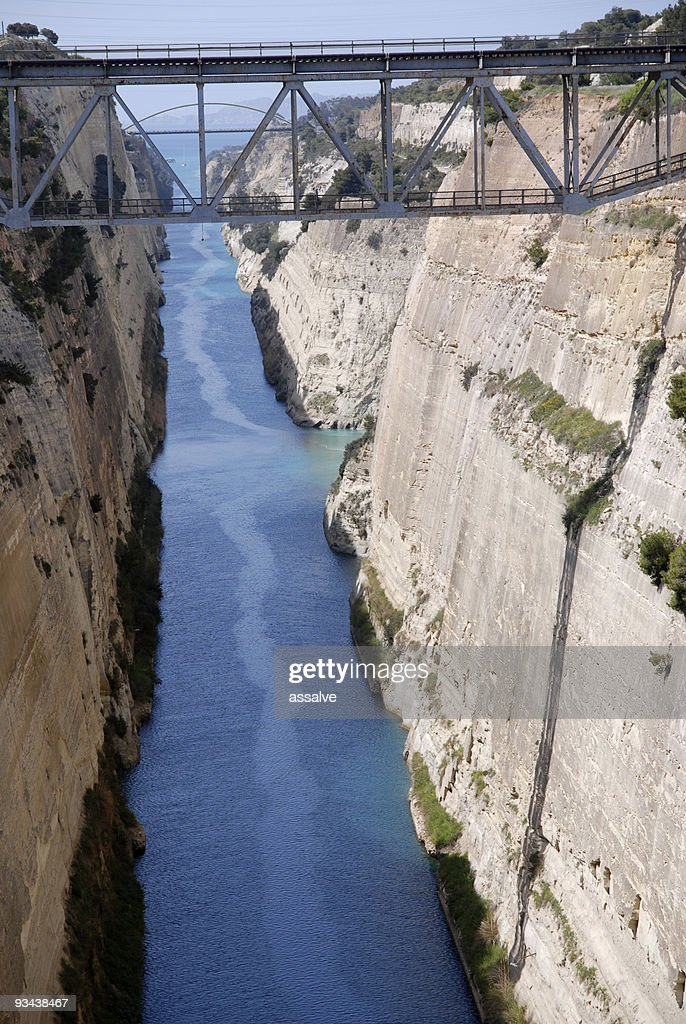 Bridge over Canal of Corinth : Stock Photo