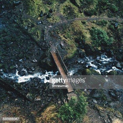 Bridge Over Creek at Elowah Falls Oregon : Stock Photo