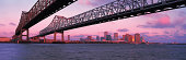 Bridge over Mississippi River, New Orleans in background