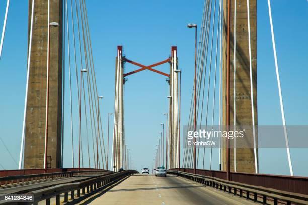Bridge over  Parana River of Las Palmas.