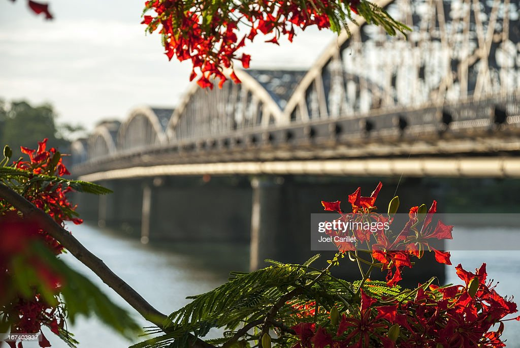 Bridge over Perfume River in Hue Vietnam : Stock Photo
