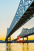 Bridge over river, New Orleans, Louisiana, United States