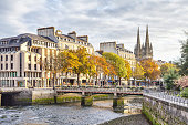 Bridge over river Odet in Quimper, Brittany, France
