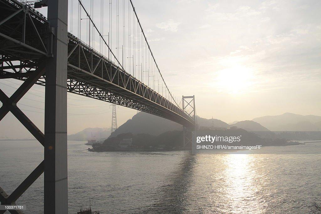Bridge over sea, Shimonoseki city, Yamaguchi prefecture, Japan