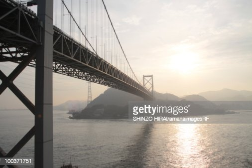 Bridge over sea, Shimonoseki city, Yamaguchi prefecture, Japan