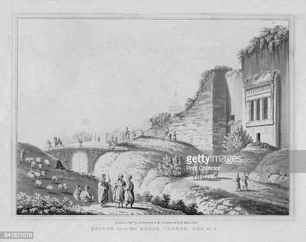 Bridge over the Brook Cedron John 181' 1830 From A Series of twentyfour Views illustrative of the Holy Scriptures Views from Sir Robert Ainslie's...