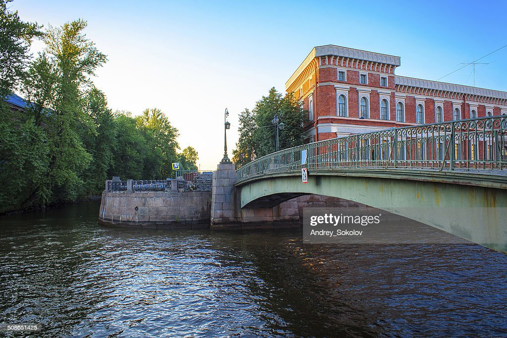 Bridge over the canal : Stock Photo