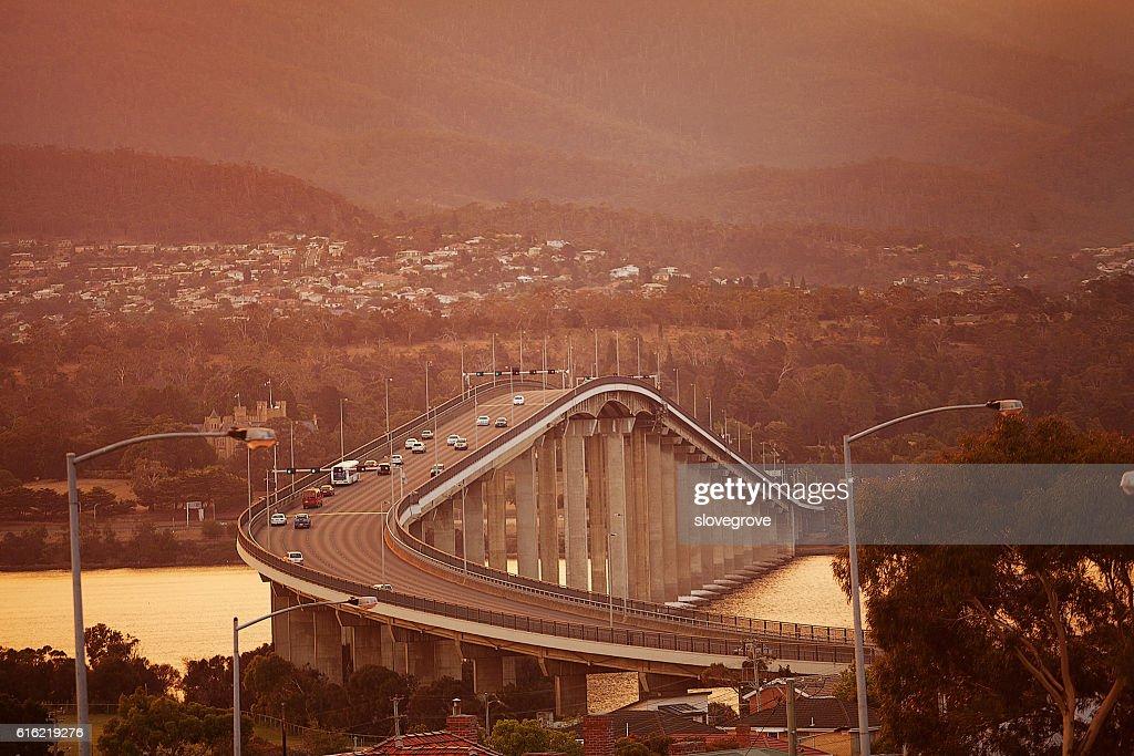 Bridge over the river Derwent : Stock Photo