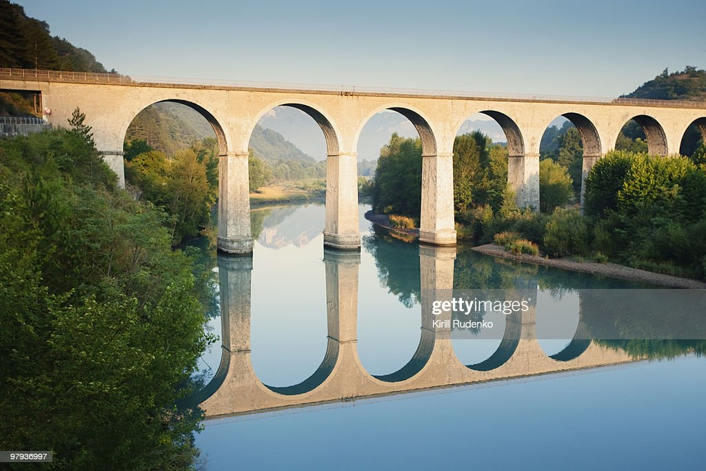 Bridge over the river Durance in Sisteron, France