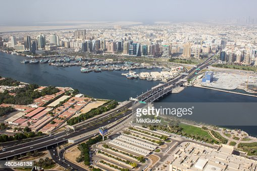 bridge over the river in Dubai : Stock Photo
