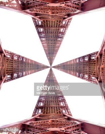 bridge parts forming a cross : Stock Photo