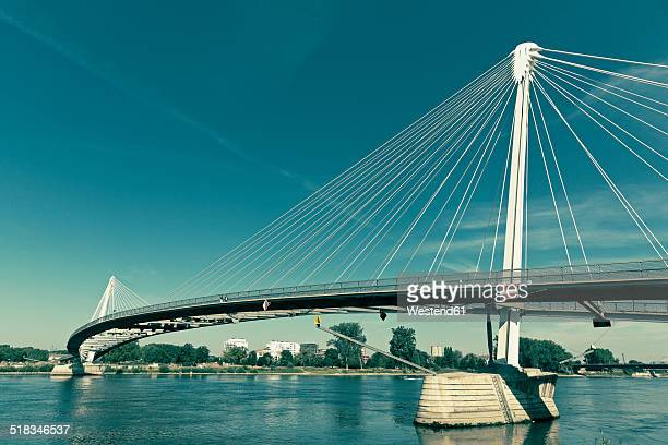 Bridge Passerelle des Deux Rives connecting the cities Kehl, Germany, and Strasbourg, France