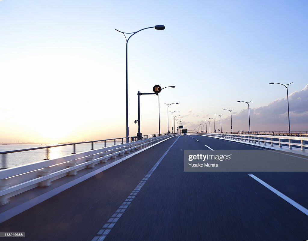 Bridge sunset : Stock Photo