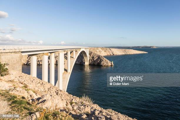 Bridge that link the Pag island with the Coratian coast
