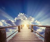 bridge to Paradise. The concept on religions and philosophical topic.