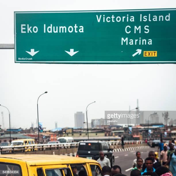 Bridge traffic. Lagos, Nigeria.