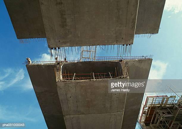 Bridge under construction, view from below