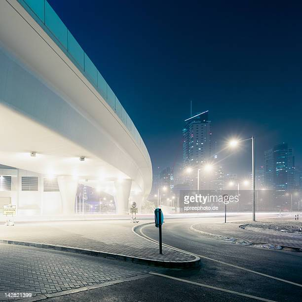 Bridge with cityscape of Dubai