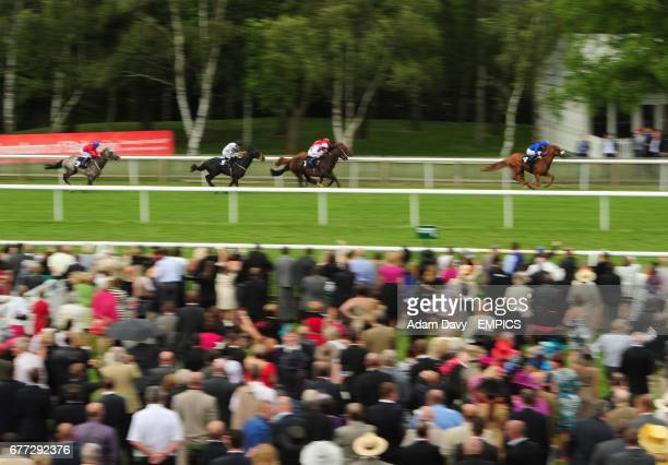 Bridgefield ridden by Mickael Barzalona pulls away to win the Portland Place Properties Conditions Stakes