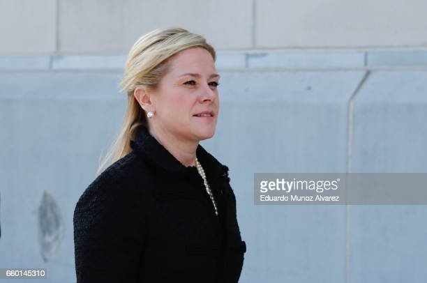 Bridget Anne Kelly former deputy chief of staff to New Jersey Gov Chris Christie arrives at the Martin Luther King Jr Federal Courthouse on March 29...